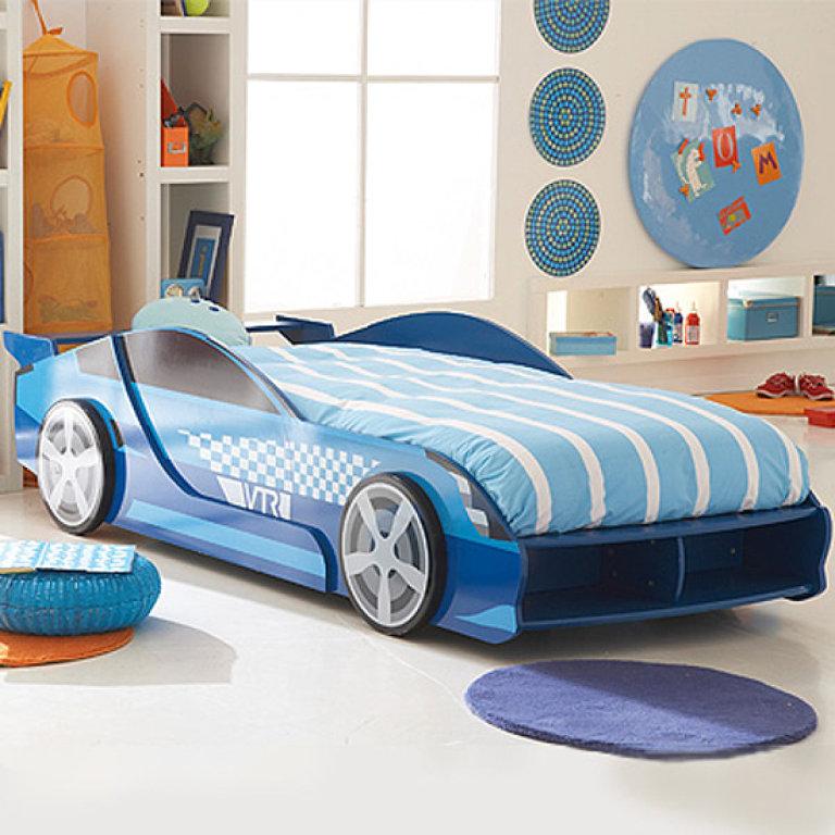 Детские кровати в виде машины (автомобиля)