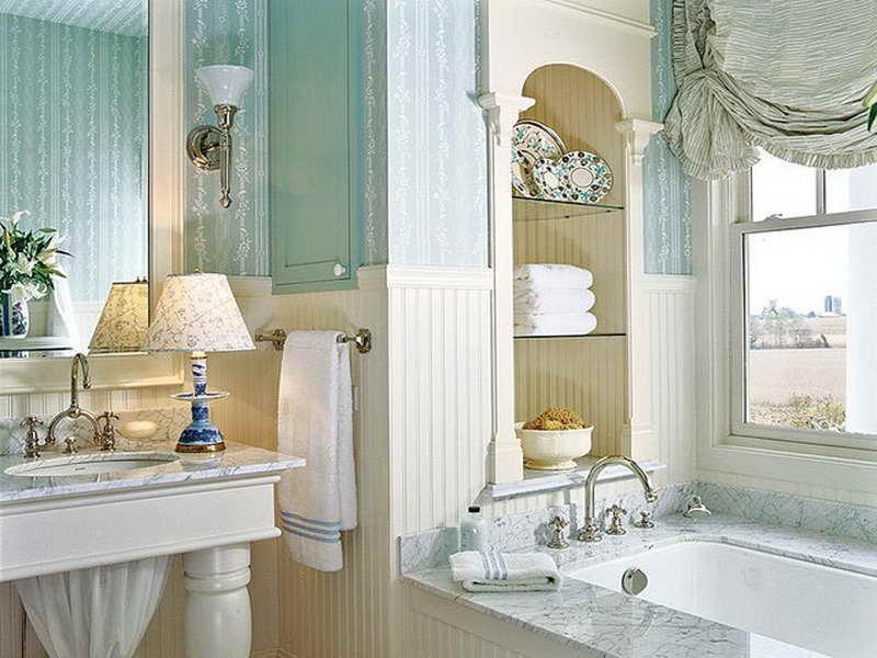 Красивое оформление ванной в классическом стиле