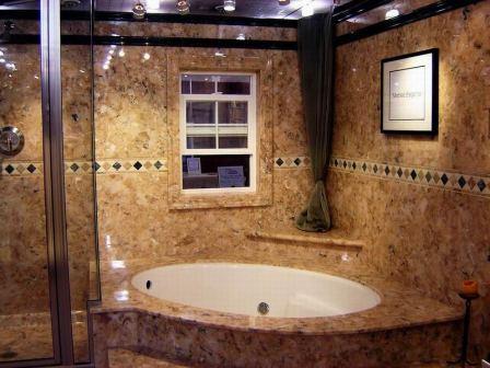 Искусственный камень на кухне и в ванной комнате