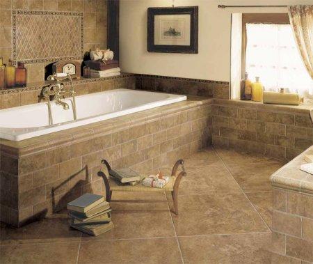 Ванная комната керамогранит пол