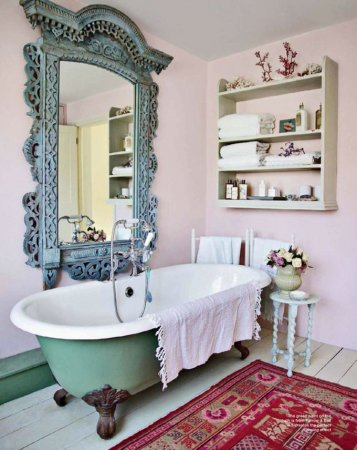Винтажный стиль в ванной комнате
