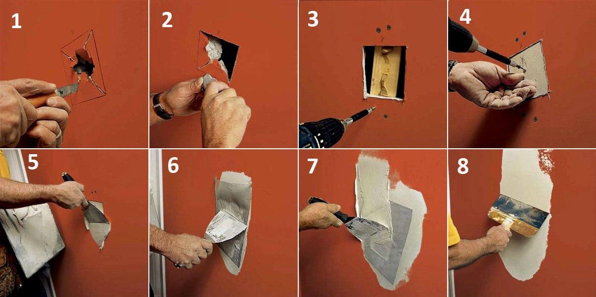 Заделываем отверстия и щели в стенах и потолке