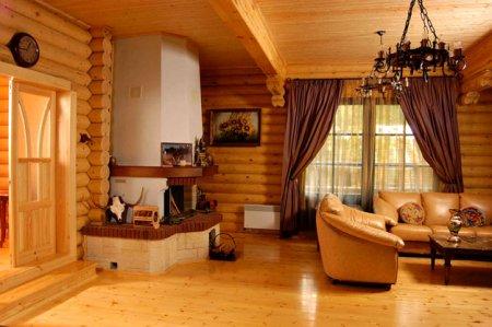 Деревянные дома — интерьер