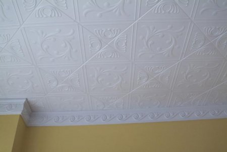 Потолочная плитка — оригинально и декоративно