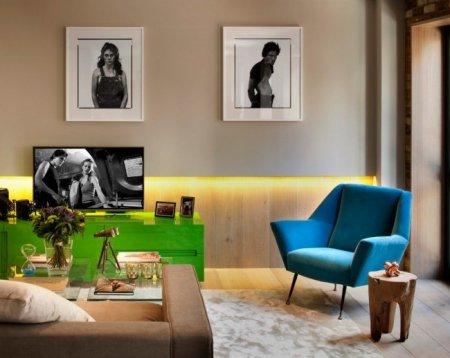 Сочетание синего и зеленного цвета в вашем доме