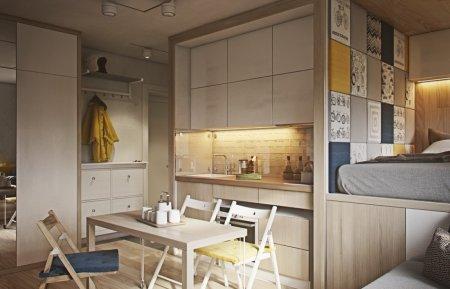 Как создать уютную квартиру на 12 квадратных метрах