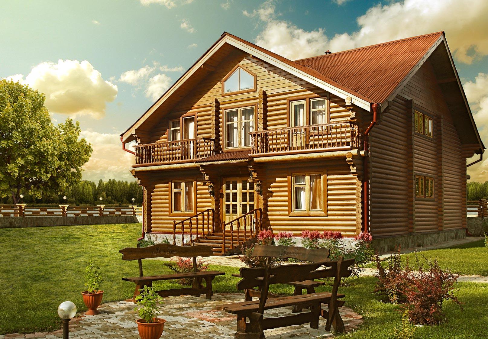 Загородное строительство домов из бруса